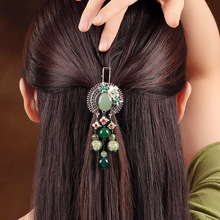 Chinese style Ethnic Hairpin Handicrafts Vintage Tassel Hair Clip Headwear Women Ancient Costume Accessories Hair Ornaments цена и фото