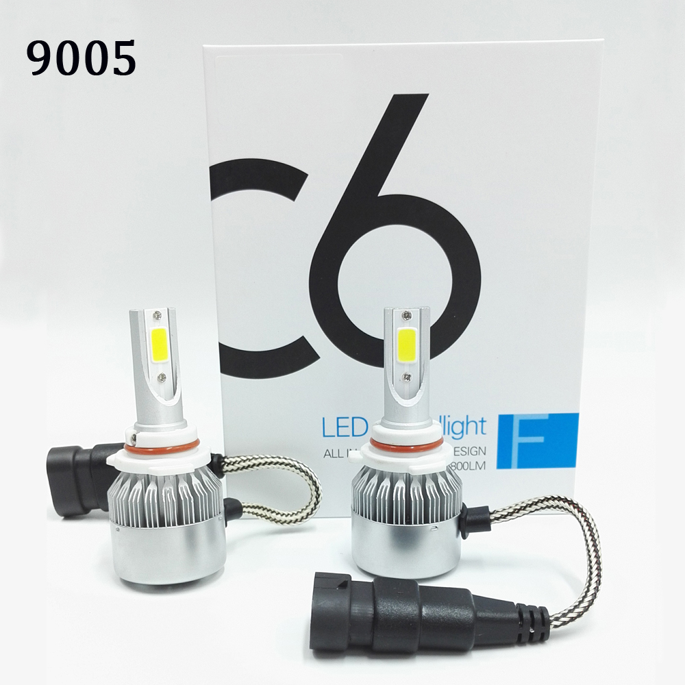 2 pcs All In One C6 Car Led Headlight H1 H3 H7 H9 H11 H4 H13
