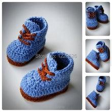 Red Crochet Baby Sneakers, Newborn Shoes, Infant Crochet Booties, Sneakers for Babies