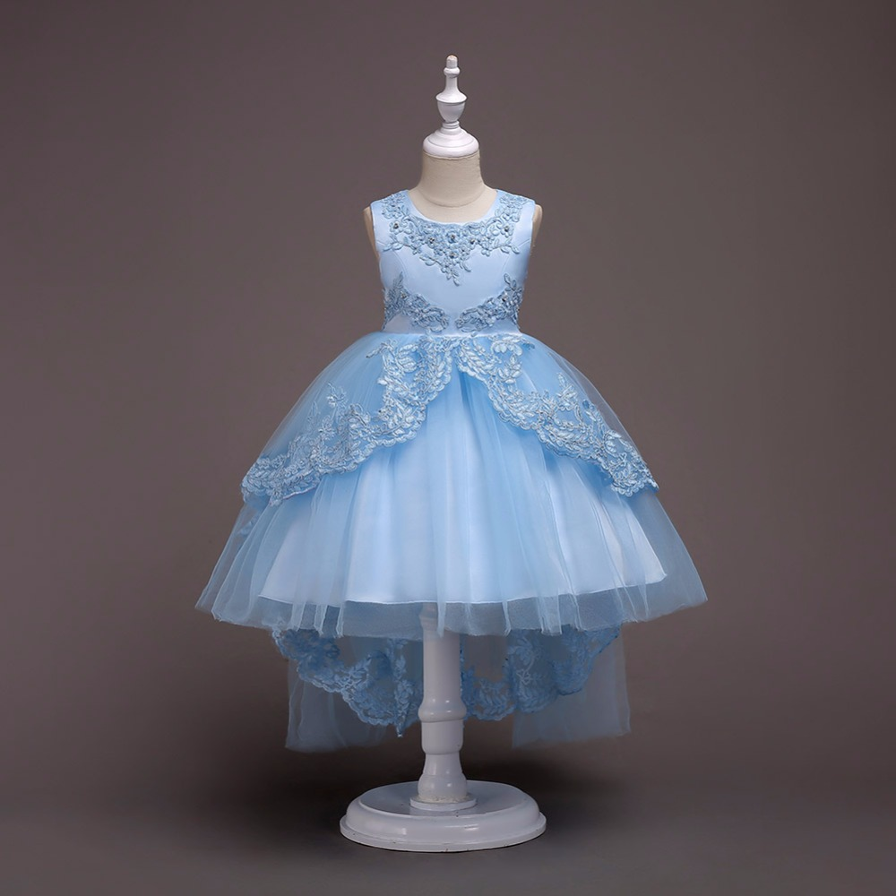 Baby Girls Dresses Princess Party Dress 2 4 8 10 12 15 Years Sleeveless Birthday Dress New Festive Children Clothing Infant Wear summer 2017 new girl dress baby princess dresses flower girls dresses for party and wedding kids children clothing 4 6 8 10 year