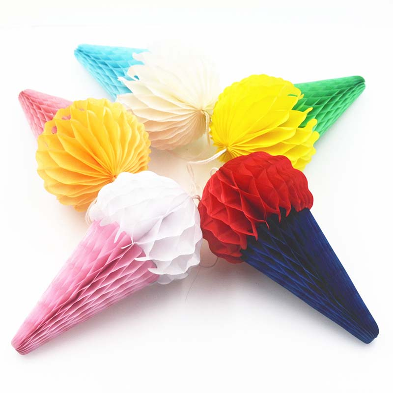 1/2/5pcs 15CM Honeycomb Balls Ice Cream Paper Lanterns for Birthday Decoration Baby Shower Nursery Party Supplies DIY Lay Out 8Z