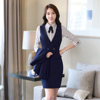 Skirt Suit Women Spring Period And The Long Sleeve Career Women S Suit Suits For Women
