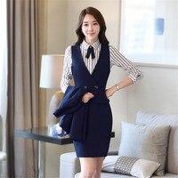 Rok pak vrouwen lente periode en de lange mouwen carrière vrouwen pak pakken voor vrouwen elegante rok past office uniform stijl