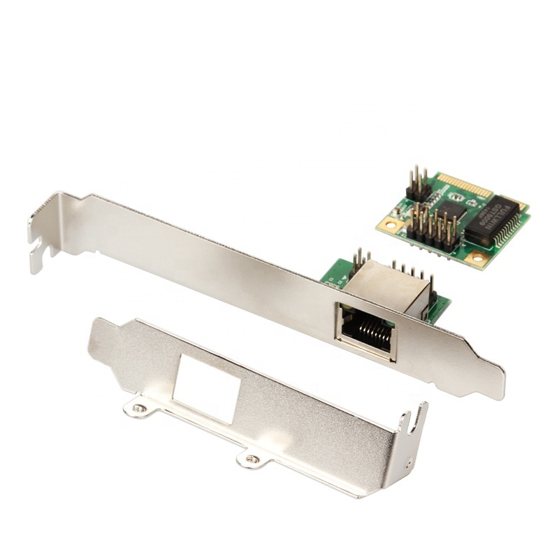 Mini PCI-E Gigabit Ethernet With RJ45 TCP/IP Port LAN Adapter MPCE8111-GLAN