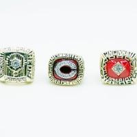 Latest Official Design 3pcs Set 1975 1976 1990 Cincinnati Reds Championship Rings REPLICA