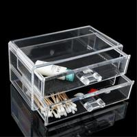 2 Grids 2 Layer Drawers Skin Care Set Storage Box Cosmetic Jewelry Display Holder Lipstick Case