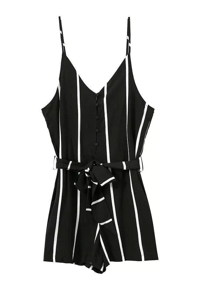 HTB1my9YIXXXXXaRXVXXq6xXFXXXm - FREE SHIPPING Black&White Jumpsuit Striped Romper JKP301