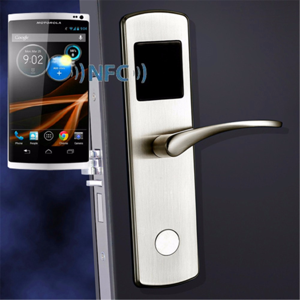 Smart NFC Electronic Door Lock Keyless Smart Entry for Hotel Apartment Condo Compatible iOS/Android Stainless Steel OS6600NFC-in Locks from Home Improvement ... & Smart NFC Electronic Door Lock Keyless Smart Entry for Hotel ...