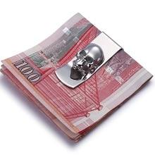 Modern - Brand New 2017 Skull Designs Men Sliver Money Clip Slim Pocket Purse Clamp Cash Holder Card Organizer Men Women Wallet