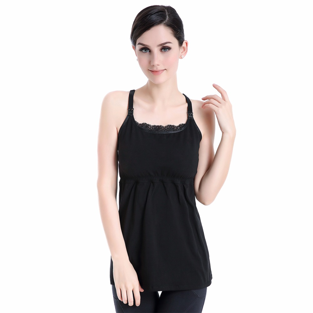 Maternity Shirt 2018 Breastfeeding Tops Undershirt Camis Pregnant Sleeveless Tank Tops Nursing Womens Clothing