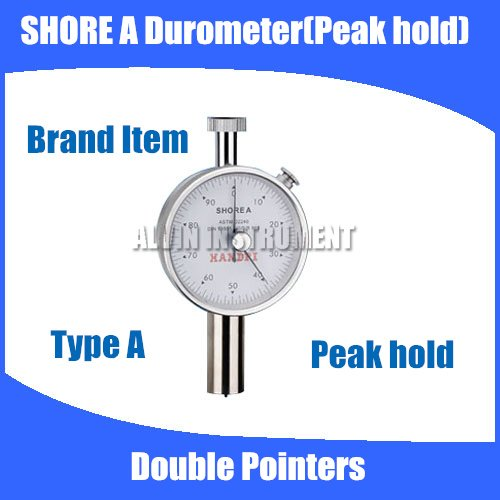 Free shipping Type A Shore Hardness Tester Meter Rubber shore Durometer Double Pointers Peak Hold free shipping digital shore hardness tester meter shore durometer rubber hardness tester standards din53505 astmd2240 jisr7215