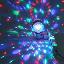 E27 RGB LED Disco Stage Lights Ball Bulb DJ Light 2-Head Rotating Party Effect Light Lamp luces discoteca(China)