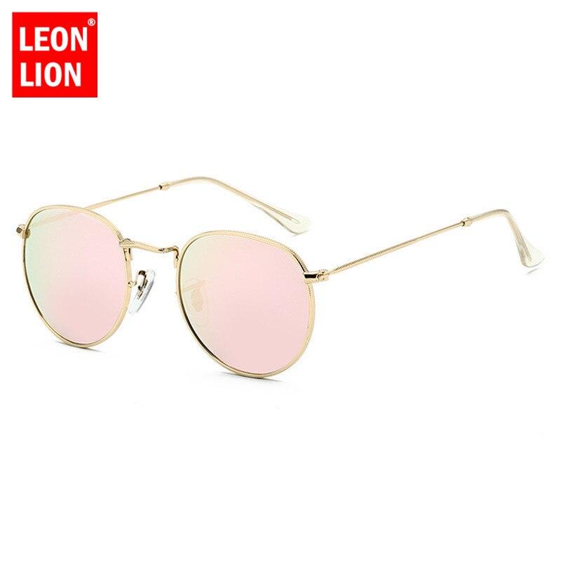 LeonLion 2019 Luxury Lustro okulary kobiety/mężczyźni marka dizajnerskie okulary okrągłe okulary słoneczne 4