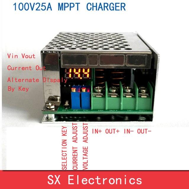 MPPT REGOLATORE di Carica Solare 100V25A Step down caricare tutti i tipi di batteria Al Litio 72V60V48V36V24V12V di Corrente Regolabile
