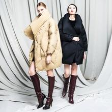 New 2016 Winter Jacket women Down jackets Women's goose Down coat thicken medium-long down coats Outerwear Loose Plus size Parka