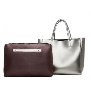 Image 4 - Solid Large Capacity Women Bags Casual Tote Women Pu Leather Handbags Ladies Shoulder Bags Set Bolsa Feminina Black Silver Gold