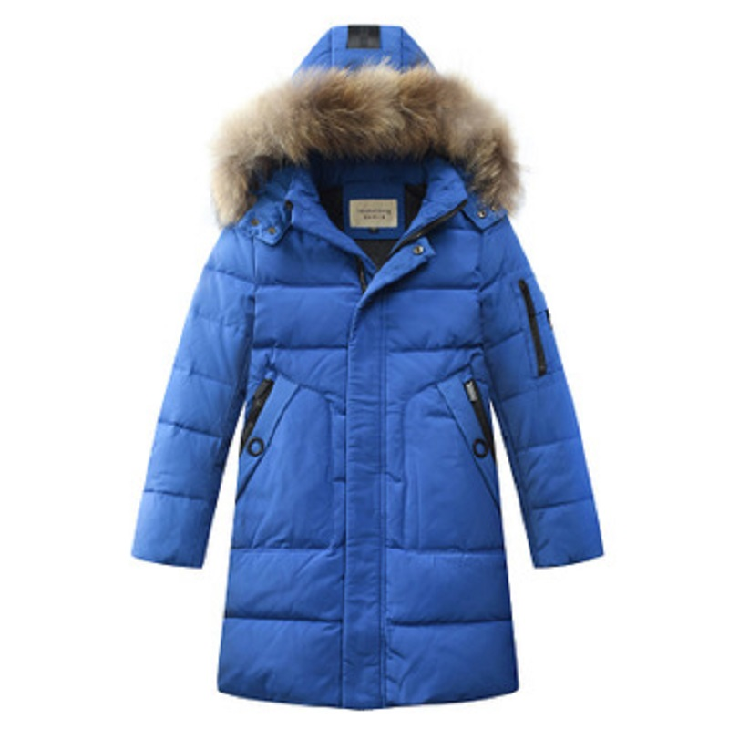 Boys Winter Jacket Duck Down Jacket Kids Thick Warm Winter Jackets with Fur Coats Teenage Boys Clothing 6 8 10 12 14 Year