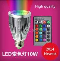 Nueva llegada RGB lámparas LED 1 unids/lote 15 W E27 llevó el bulbo 85 - 265 V de luz LED con Control remoto de múltiples colores llevó la iluminación