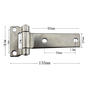 Image 3 - HCSSZP Boat Accessories 1 Pcs Marine Grade Stainless Steel T Type Container Hinge Forged Truck Vehicle Hinge with 135*58mm
