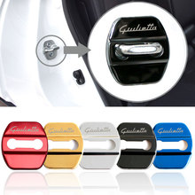 4pcs Car Styling Door Lock Protection Cover Case For Alfa Romeo giulietta Emblems Accessories