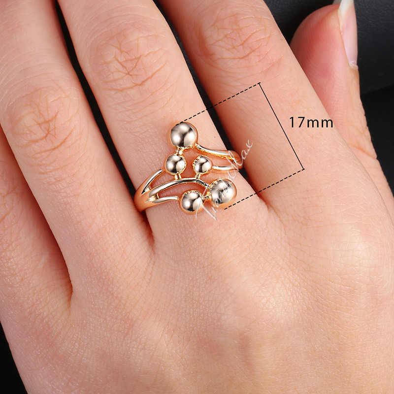 แหวนผู้หญิง Twisted Vine ลูกแฟชั่นเครื่องประดับ 585 Rose Gold Filled 21 มิลลิเมตร GR40