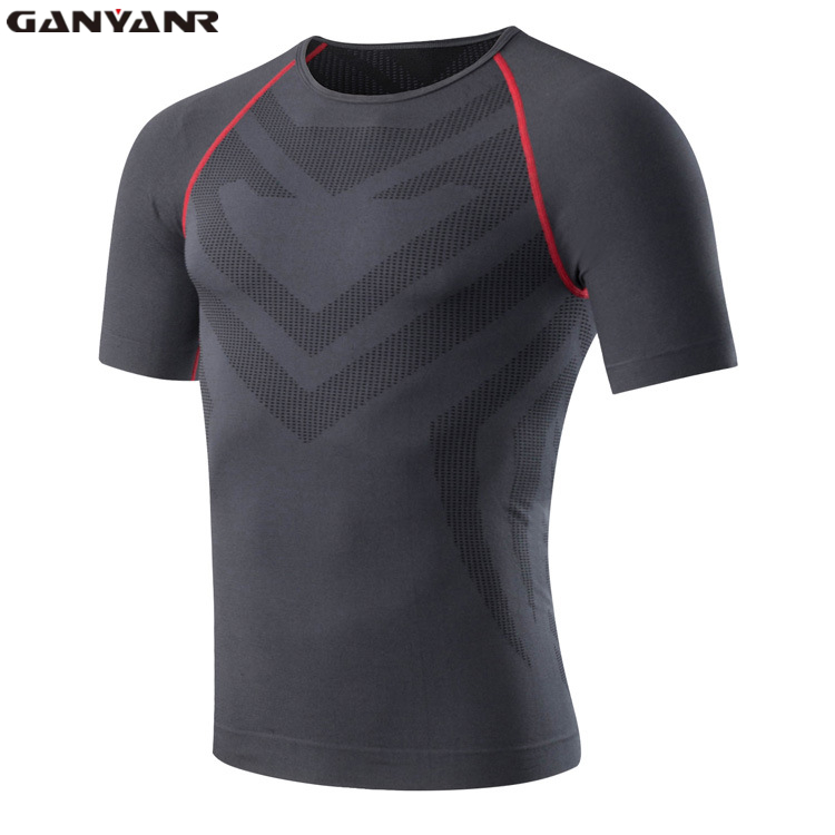 ganyanr brand compression t shirt short sleeve man dry fit t shirts training tights sport quick. Black Bedroom Furniture Sets. Home Design Ideas