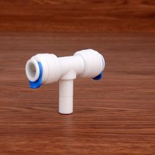 3/8 Middle Quick Connection - OD Tube Tee Type PE Pipe Fitting Hose Plastic Connector RO Water Filter System Parts