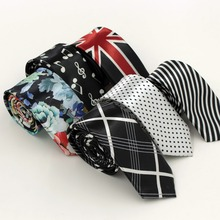 9 Colors Fashion Slim Man Ties For Men Polyester Silk Neckti