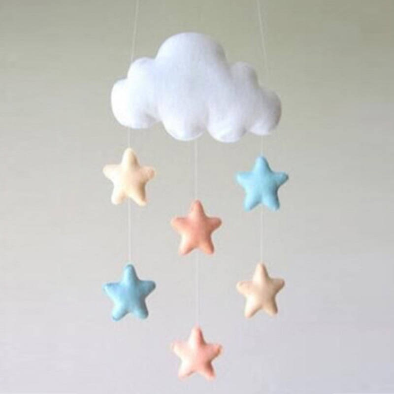 Water Drop Raining Clouds Tent Props Room Hanging Childrens Room Ornaments Baby Boy Girl Handmade Room Decoration