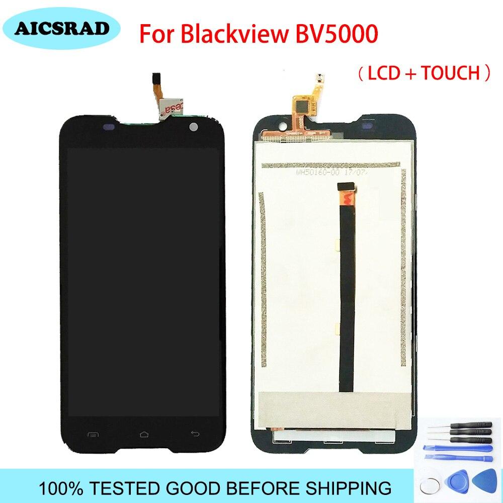 1 PCS Android Version 6.0 Pour Blackview BV5000 LCD Display + Écran Tactile pièces de rechange Pour Noir vue BV 5000 5.0 avec Des Outils