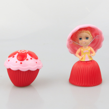 Board Games for Kids Mini Cupcake Princess Doll Board Game Transformed Scented Toy Table Games Children Playing House Game