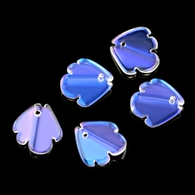 10pcs/lot 15x15mm shiny fish shape glass beads smooth crystal pendant for Jewelry DIY earring accessories