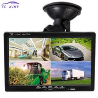 2018 7 Inch Split Screen Quad Monitor 4ch Video Input Windshield Style Parking Dashboard For Car Rear View Camera Car styling