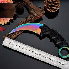 Csgo nueva se desvanecen Counter Strike hechos a mano cuchillos de caza lucha del cuchillo de la garra Tactical Survival herramienta que acampa masacre pardeamiento karambit cuchillo