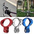Bicicleta de ciclo bike aluminio barra del manillar montaje de abrazadera para gopro hero 1/2/3/3 + accesorios de la cámara envío gratis