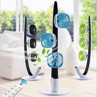 220V EU/AU/UK Electric Fan 3 Heads Household Electric Cycling Floor Fan With Timer Air Conditioning Circulating Fan