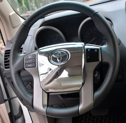 Chrome 3d Interior Panels Steering Wheel Cover For Toyota Land Cruiser Prado Accessories Fj150