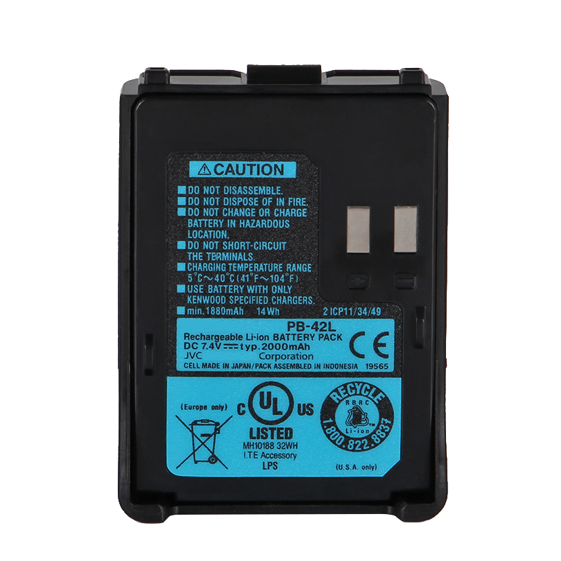YIDATON DC 7.4 V 2000 Mah Rechargeable Li-ion PB-42L Battery For Kenwood Th-f6, Th-f6a, Th-f7, Th-f7e Portable Walkie Talkie
