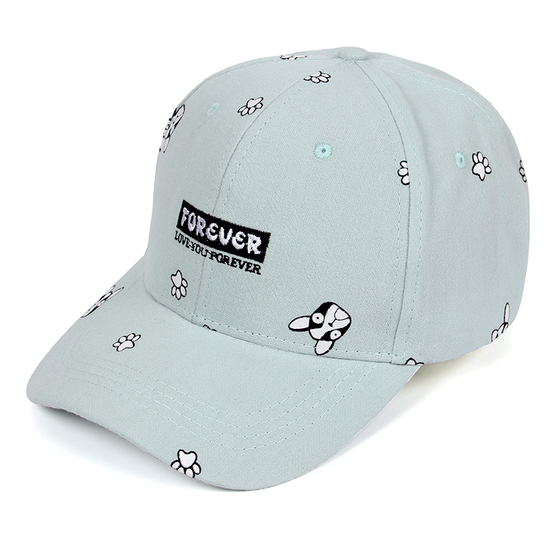 Summer Baseball Cap Women 2017 Dog Pattern Cute Snapback Hip Hop Cap High Quality Hats For Women Brand Adjustable Bone Gorras