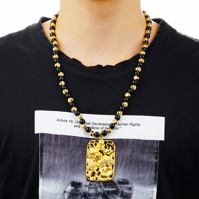 collier homme chance