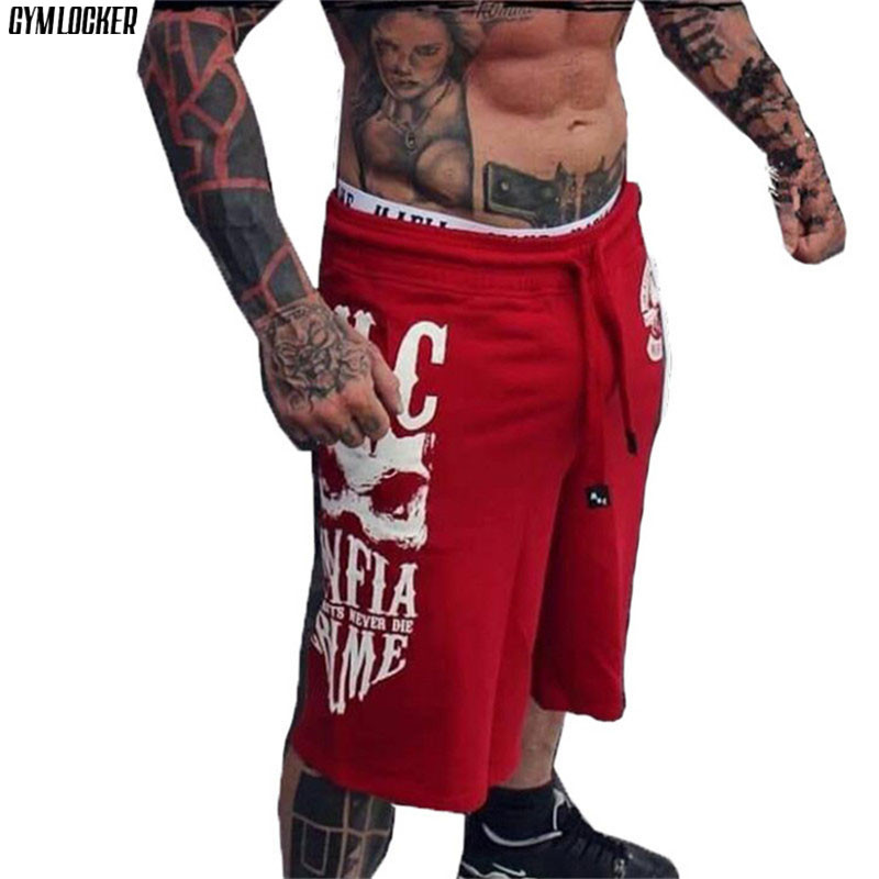 GYMLOCKER Casual Fashion Jogger Sweatpants Shorts Men's New Gyms Bodybuilding Male Knee Length Shorts Men Sweatpants Clothing