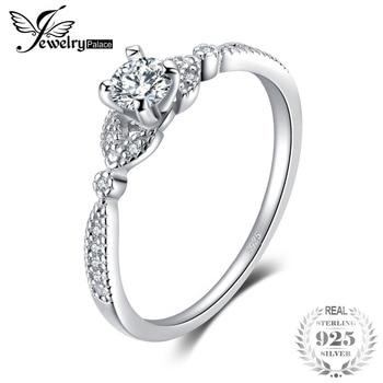 a4381aeb3285 JewelryPalace boda Cubic Zirconia anillo de compromiso para mujer 100%  Plata de Ley 925 de moda de la boda accesorios de la joyería