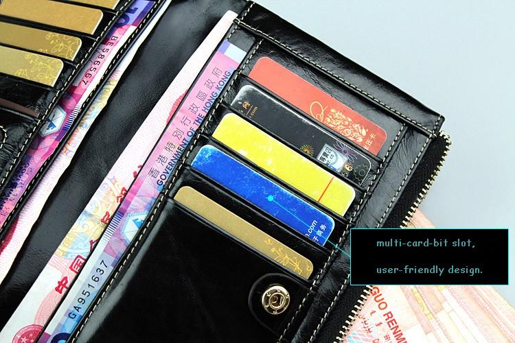 в продаже! бесплатная доставка 100% натуральная кожа бумажник простой мода длинный отрезок кошелек для мужчин и женщин, леди бумажник сцепления