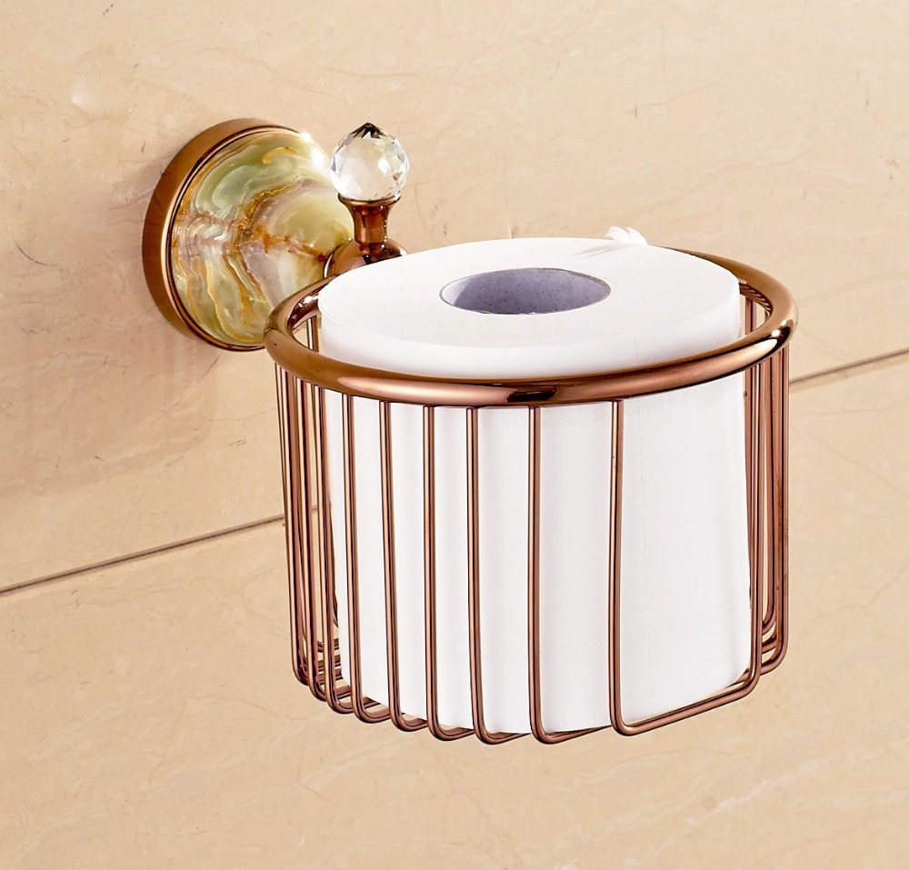 ФОТО Wall Mounted Toilet Paper Holder Bathroom Toilet Paper Box With Jade Cover Free Shipping