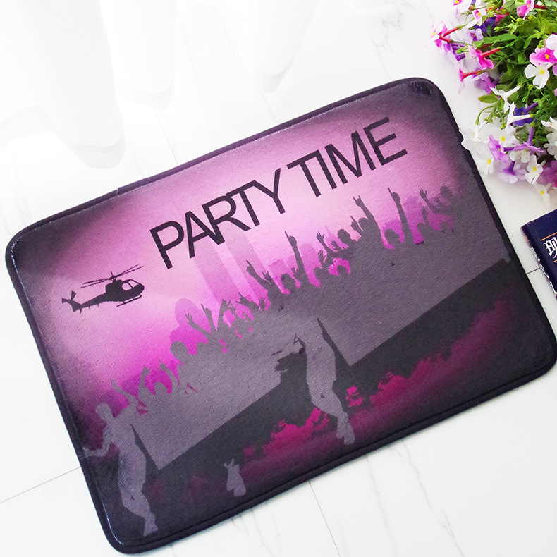 CAMMITEVER Party Time Rugs Carpets Bedroom Bedside Sofa Carpet Living Room Tea Table Paved Play Mat Rug