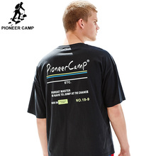 Pioneer Camp Mens T-Shirts Printed Short Sleeve Tshirts Summer Hip Hop Casual 100% Cotton Tops Tees loose  ADT901076