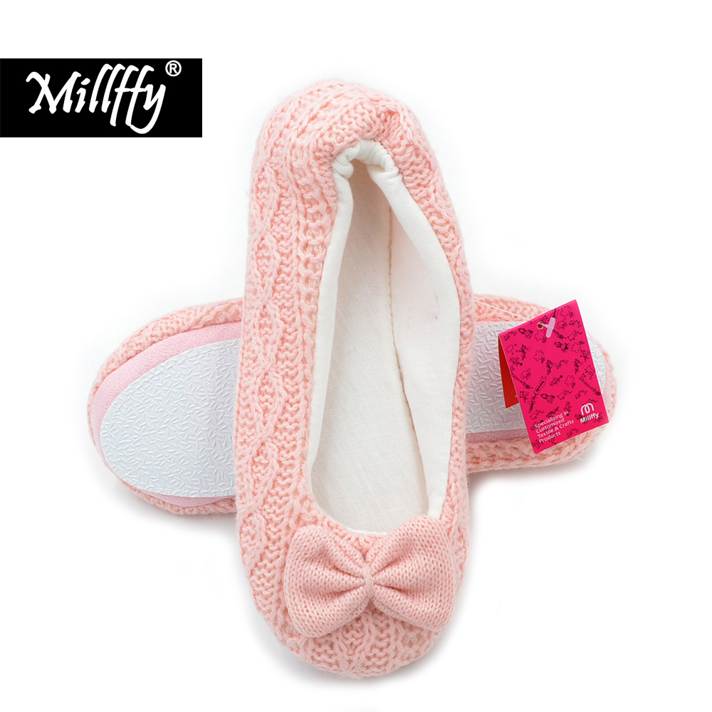 082debf0a68b8 US $7.99  Millffy lovely fancy ballet flats slippers girls knit cloth  slippers shoes home indoor floor lady slipper ballerina shoes-in Women's  Flats ...