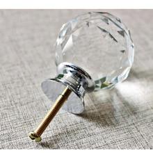 Алмазная кристальная Стеклянная Ручка мебельная ручка для ручек ящиков в шкафу шкаф-WK
