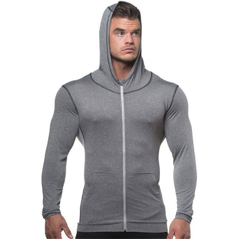 blue Uomini Abbigliamento Sportivo Zipper Colore Vestiti Da black Cappuccio  Modo Sottile Gray Nuovi Bodybuilding Alta Dei Uomo Solido Con ... a2cf7114514