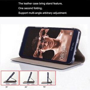 Image 2 - Sprawa dla ZTE Blade A7 2020 styl w kratę płótno wzór skórzana klapka dla ZTE A7 2020 bez odcisków palców przypadki Coque